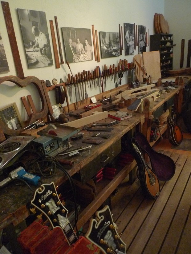 The entire D'Angelico/D'Aquisto Workshop, including sawdust and (used) paper towels...wonderful!