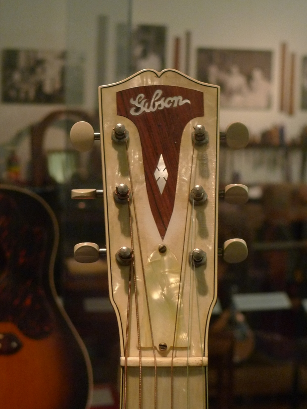"Beautiful MOTS Gibson ""Century of Progress"" guitar."