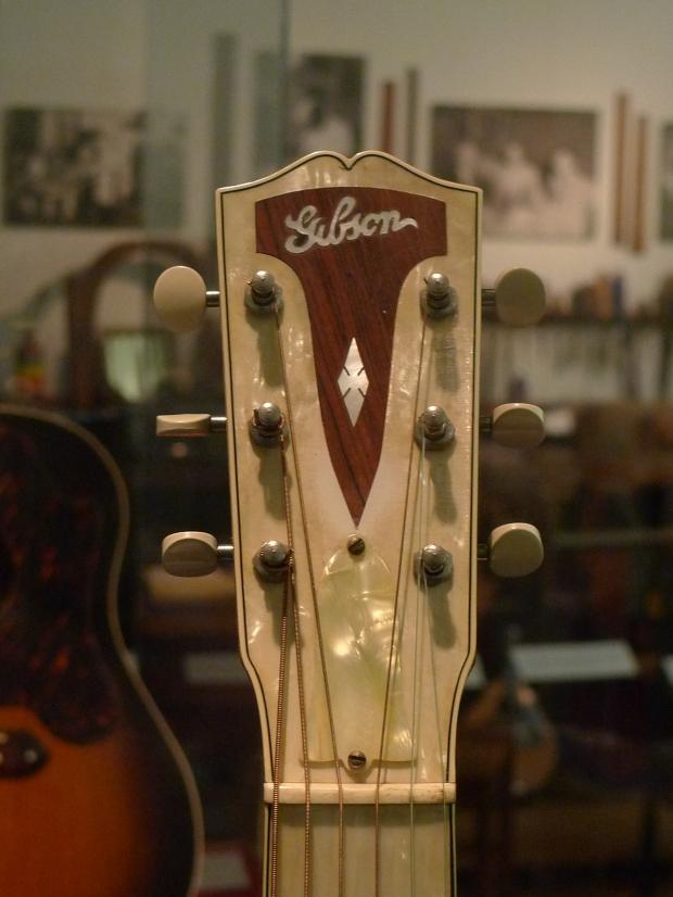 "Beautiful MOTS Gibson ""Century of Progress"" guitar."