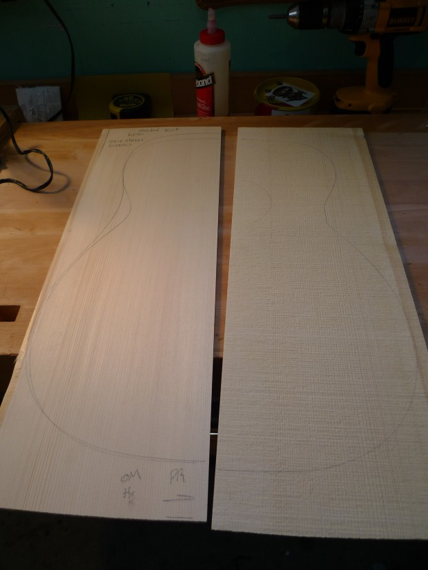 Adirondack Spruce Soundboard, before thicknessing and jointing.