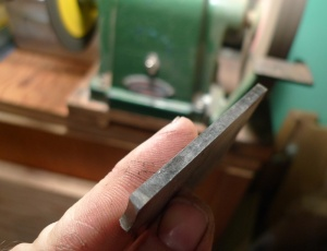 ground at 90 degrees and lapped on either side, you get twice the cutting edges to use before regrinding.